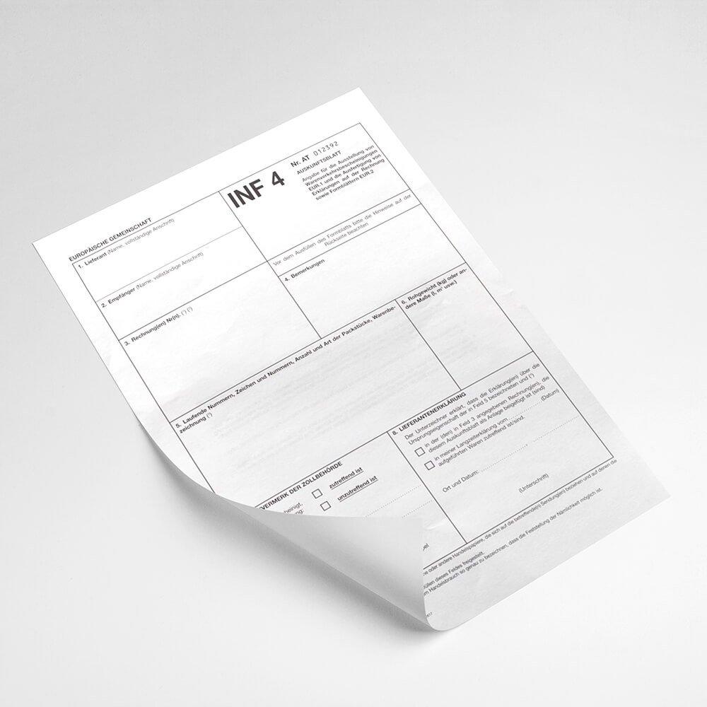 Zoll- & Steuerformulare