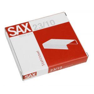 SAX Heftklammern 23/10 1.000 Stück silber