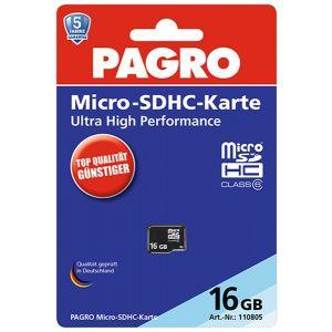PAGRO Micro SD-Karte 16 GB