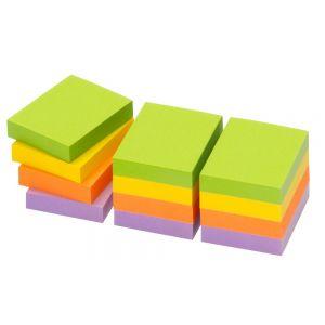 INFO NOTES Haftnotiz 50 x 40 mm 100 Blatt 12 Stück Neon-Mix