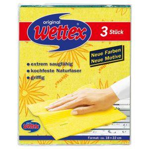 WETTEX Schwammtuch 18 x 22 cm 3 Stück gelb