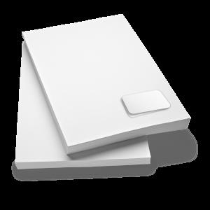 Briefpapier 120g neutral mit integrierter Protect-Karte Format DIN A4, laserpersonalisierbar