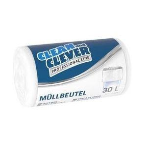 CLEAN & CLEVER Müllbeutel Professional PRO73 50 Stück 30 Liter weiß