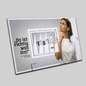 Lamellenkarte mit Bildwechseleffekt Kreative Ansprache Ihrer Zielgruppe