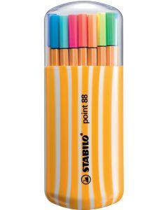 STABILO Fineliner Point 88 im Etui  0,4 mm 20 Stück mehrere Farben