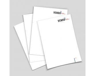Briefpapier A4, 4c/0 Offsetdruck, 90g Volumenpapier, Produktionszeit: Standard