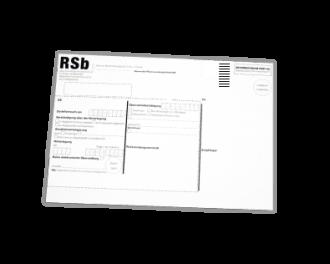 RSb-Etikett maschinenfähig Porto-optimiertes Etikett für RSb Briefe