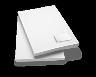 Briefpapier 120g neutral mit integrierter Karte Format DIN A4, laserpersonalisierbar