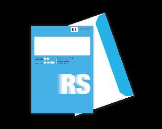RS-Hybridkuvert C4 mit Fenster