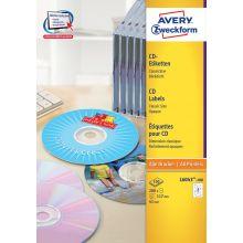 AVERY ZWECKFORM CD-Etiketten L6043-100 200 Stück Ø 117 mm weiß
