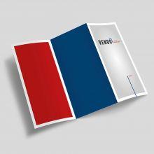 Flyer, 99x210mm, 4c/0 Digitaldruck, 100g Volumenpapier, Produktionszeit: Standard
