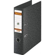 BENE Ordner 91300 A4 8 cm Hartpappe schwarzgrau marmoriert