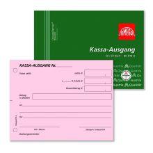 OMEGA Kassa Ausgangsbuch 916A DIN A6 quer 2x50 Blatt rosa/weiß