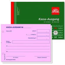 OMEGA Kassa Ausgangsbuch 2916AOK DIN A6 quer 3x50 Blatt rosa/rosa/weiß