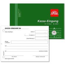 OMEGA Kassa Eingangsbuch 916E A6 quer 2x50 Blatt weiß/rosa