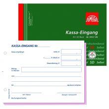 OMEGA Kassa Eingangsbuch 916EOK A6 quer 2x50 Blatt weiß/rosa