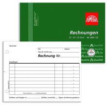 OMEGA Rechnungsbuch 2951 1/2 A6 quer 3 x 50 Blatt weiß/weiß/weiß