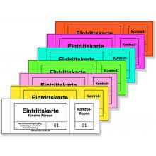Garderobenblöcke & Eintrittskarten