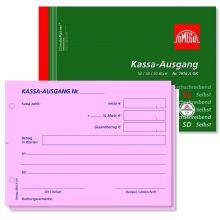 OMEGA Kassa Ausgangsbuch 2916 A OK DIN A6 quer 3x50 Blatt rosa/rosa/weiß