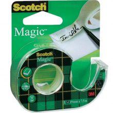 SCOTCH Klebeband Magic mit Abroller 19 mm x 7,5 m transparent