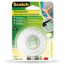 SCOTCH Montageband 331915B 19 mm x 1,5 m weiß