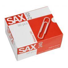 SAX Büroklammer 240 50 Stück 78 mm verzinkt