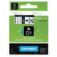 DYMO Standardetiketten D1 12 mm schwarz auf weiß