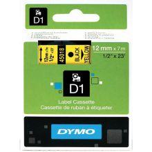 DYMO Standardetiketten D1 12 mm schwarz auf gelb