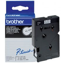 BROTHER Schriftband P-Touch TC-201 12 mm schwarz auf weiß