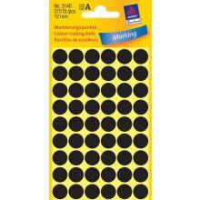 AVERY ZWECKFORM Markierungspunkte 3140 270 Stück permanent Ø 12 mm schwarz