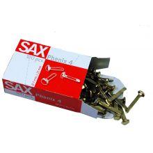 SAX Rundkopfklammern Phenix Nr. 4 100 Stück 21 mm Messing