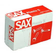 SAX Rundkopfklammern Phenix Nr. 5 100 Stück 25 mm Messing