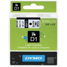 DYMO Schriftband 40913 D1 9 mm x 7 m schwarz auf weiß