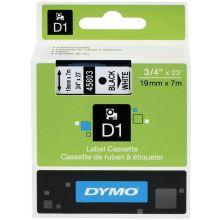 DYMO Schriftband 45803 D1 19 mm x 7 m schwarz auf weiß