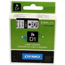 DYMO Schriftband SO720780 D1 6 mm x 7 m schwarz auf weiß