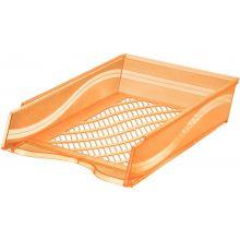 BENE Briefkorb 60100 A4/C4 orange transparent
