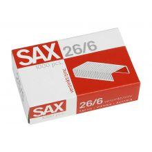 SAX Heftklammern 26/6 1000 Stück verzinkt