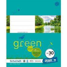 URSUS GREEN Heft FX 30 Quart 20 Blatt glatt türkisblau