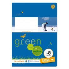 URSUS GREEN Heft FX 8 Vierling A5 20 Blatt liniert