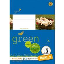 URSUS GREEN Heft FX 9 A5 20 Blatt hochkariert blau