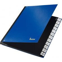 BENE Pultordner 75116 A4 A-Z 24-teilig blau
