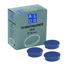 ALCO Haftmagnete 6848 10 Stück Ø 38 mm blau