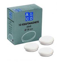 ALCO Haftmagnete 6848 10 Stück Ø 38 mm weiß