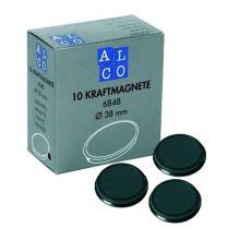 ALCO Haftmagnete 6848 10 Stück Ø 38 mm schwarz