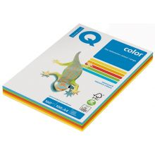 IQ Color Kopierpapier A4 80 g/m² 5 x 50 Blatt Mix intensiv-bunt