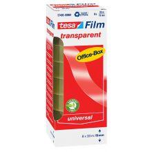 TESA Klebefilm Box 57405 8 Rollen 19 mm x 33 m transparent