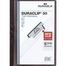 DURABLE Klemm-Mappe 2200 Duraclip A4 für 30 Blatt schwarz