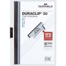 DURABLE Klemm-Mappe 2200 Duraclip A4 für 30 Blatt weiß