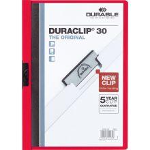 DURABLE Klemm-Mappe 2200 Duraclip A4 für 30 Blatt rot