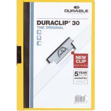 DURABLE Klemm-Mappe 2200 Duraclip A4 für 30 Blatt gelb